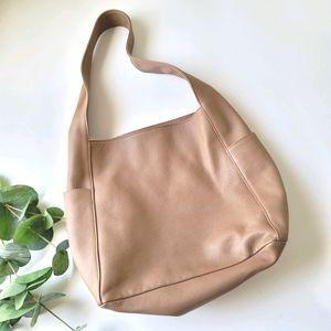 Eileen Fisher leather hobo minimalist shoulder bag